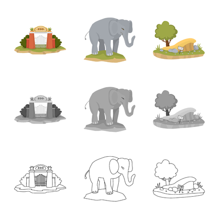 Isolated object of nature and fun sign. Collection of nature and entertainment stock symbol for web.