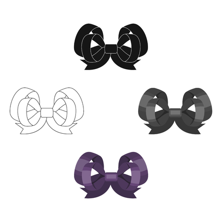 Node, ornamentals, frippery, and other web icon in cartoon,black style.Bow, ribbon, decoration,