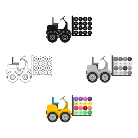 Machine, single icon in cartoon,black style.Machine vector symbol stock illustration web.