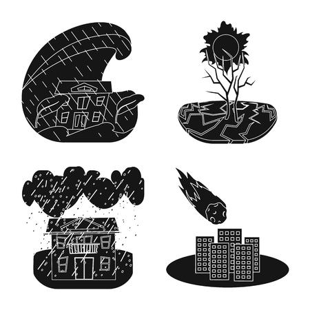 Vector design of calamity and crash icon. Collection of calamity and disaster vector icon for stock.