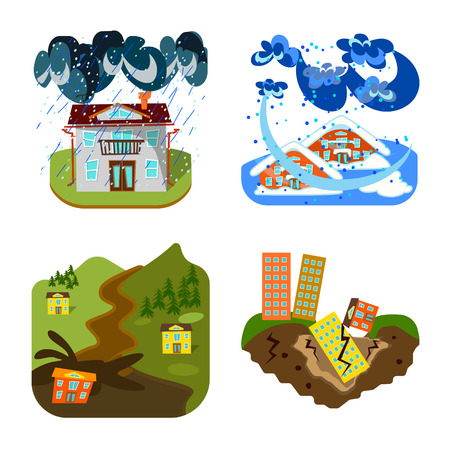Vector design of cataclysm and disaster icon. Collection of cataclysm and apocalypse  stock vector illustration.