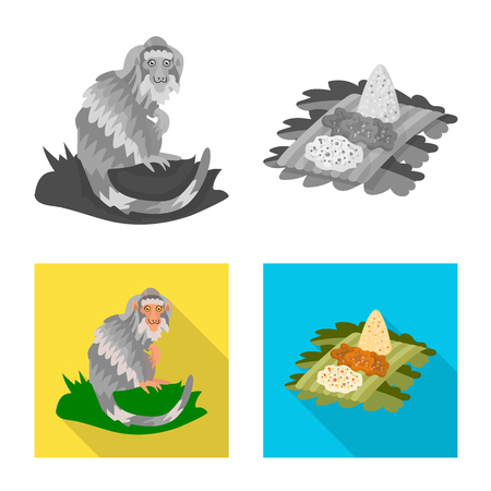Isolated object of  and travel icon. Collection of  and traditional stock vector illustration. Illustration