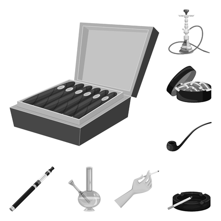 Vector illustration of health and nicotine icon. Set of health and statistics vector icon for stock.