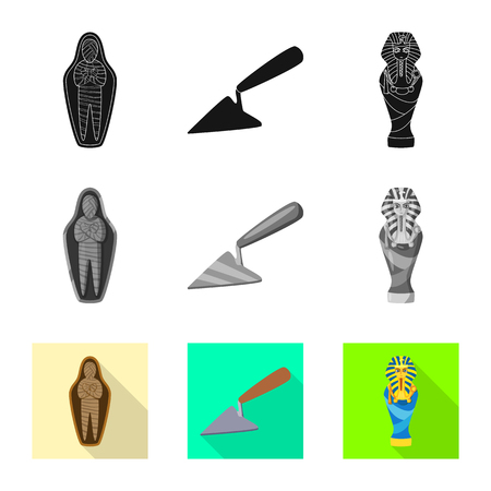 Isolated object of story and items icon. Collection of story and attributes  vector icon for stock.