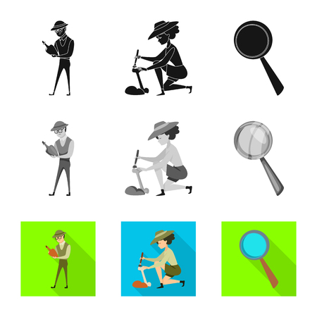 Vector illustration of story and items icon. Collection of story and attributes  vector icon for stock.