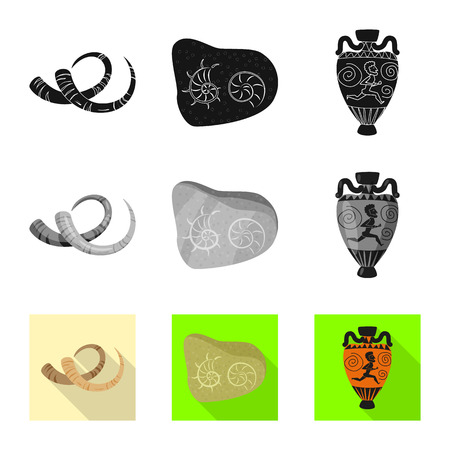 Vector illustration of story and items. Set of story and attributes  vector icon for stock.