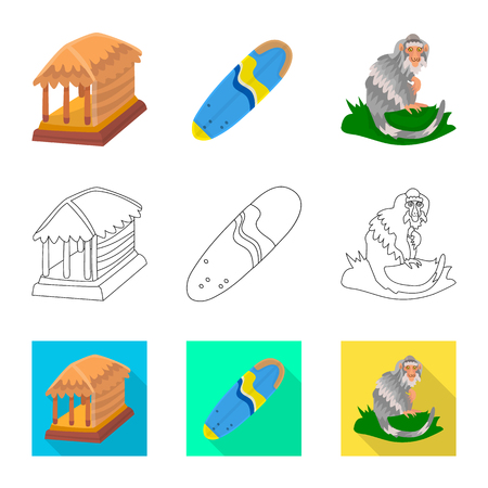 Vector design of  and travel icon. Collection of  and traditional stock vector illustration.