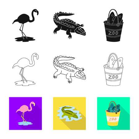 Vector illustration of nature  and fun. Collection of nature  and entertainment stock symbol for web. Stock Illustratie