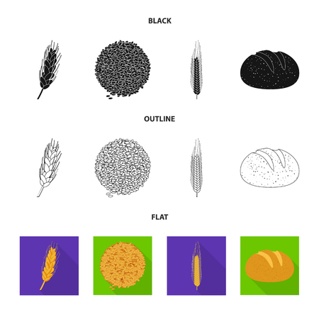 Vector design of agriculture and farming icon. Collection of agriculture and plant  vector icon for stock.