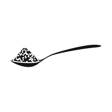 Vector design of spoon and salty sign. Set of spoon and hill vector icon for stock.