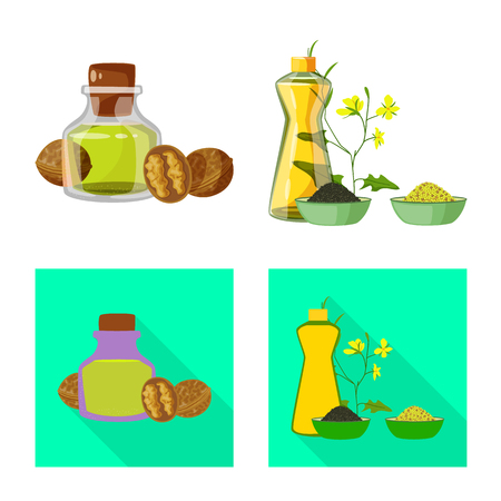 Vector design of healthy and vegetable symbol. Set of healthy and agriculture vector icon for stock.