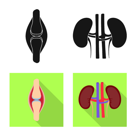 Vector illustration of biology and scientific icon. Set of biology and laboratory stock vector illustration.
