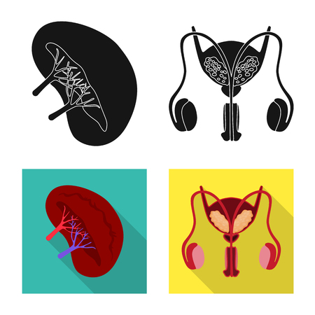 Isolated object of biology and scientific sign. Set of biology and laboratory vector icon for stock. Illustration