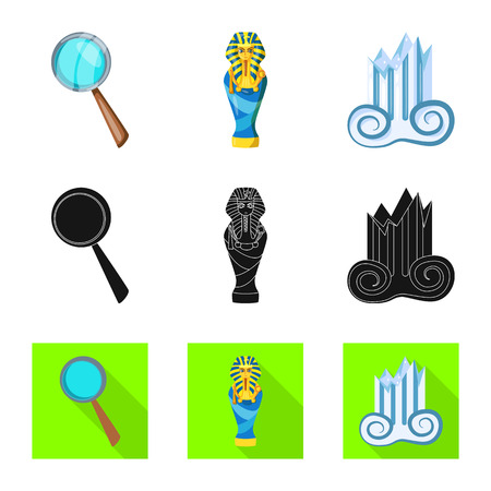 Vector design of story and items icon. Set of story and attributes  stock symbol for web.