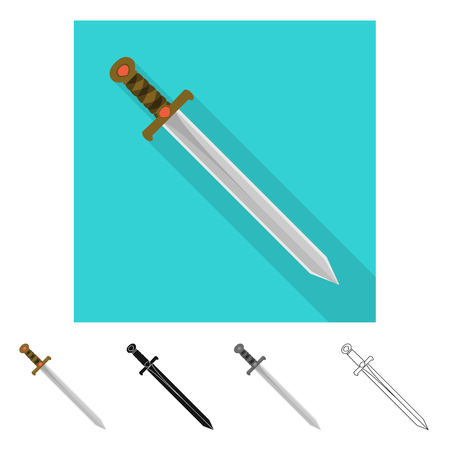 Vector design of game  and armor  sign. Collection of game  and blade  vector icon for stock.