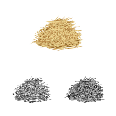 Vector illustration of bagasse and raw  icon. Collection of bagasse and waste stock vector illustration.