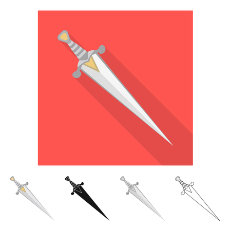 Isolated object of game  and armor  symbol. Set of game  and blade  stock symbol for web. Illustration