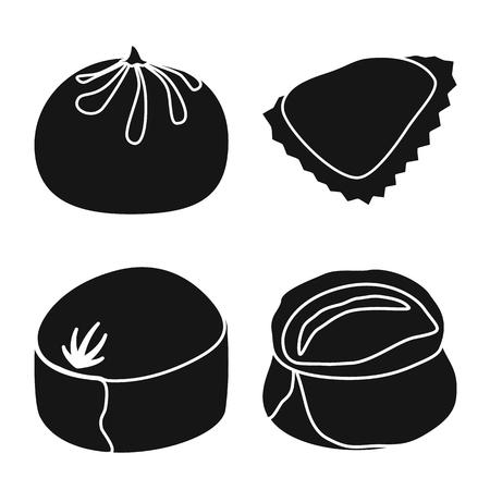 Vector illustration of cuisine  and appetizer symbol. Set of cuisine  and food  stock symbol for web. Ilustração
