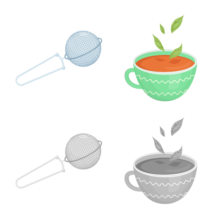 Isolated object of healthy and floral  logo. Set of healthy and gradient vector icon for stock.