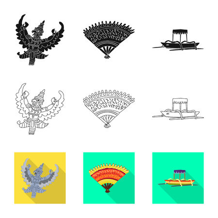 Isolated object of  and travel. Collection of  and traditional vector icon for stock.