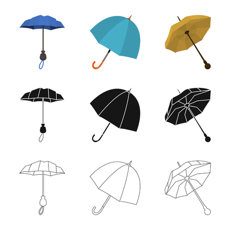 Isolated object of protection and closed icon. Collection of protection and rainy stock vector illustration.