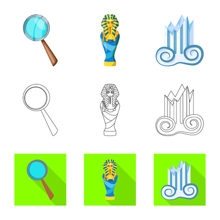 Isolated object of story and items icon. Set of story and attributes  stock vector illustration.