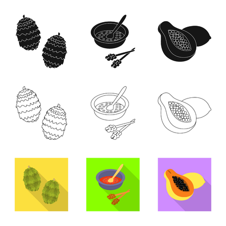 Vector design of  and travel icon. Collection of  and traditional vector icon for stock. Illustration