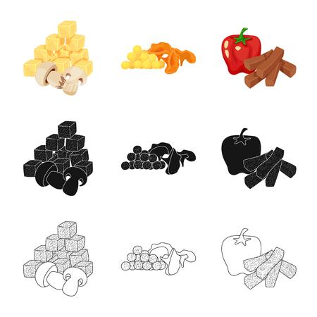 Vector design of taste and seasonin icon. Set of taste and organic   vector icon for stock.