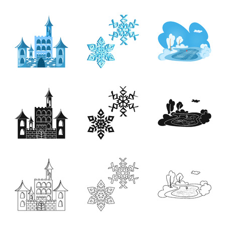 Vector design of texture  and frozen  symbol. Collection of texture  and transparent  stock symbol for web. Stock Illustratie