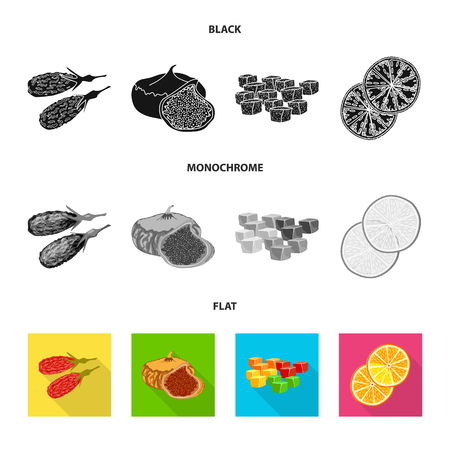 Isolated object of food  and raw. Collection of food  and nature   vector icon for stock. Çizim