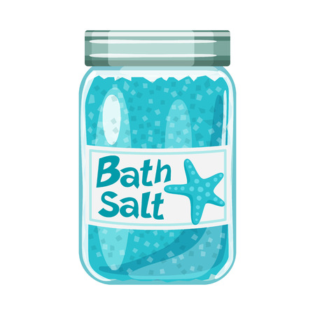 Vector illustration of bottle  and salty sign. Collection of bottle  and spa  stock symbol for web.