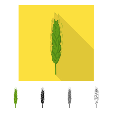 Vector illustration of agriculture and farming symbol. Set of agriculture and plant  vector icon for stock.