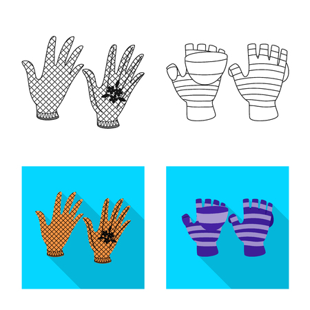 Vector design of silhouette and safety sign. Set of silhouette and comfort vector icon for stock. Stock Illustratie