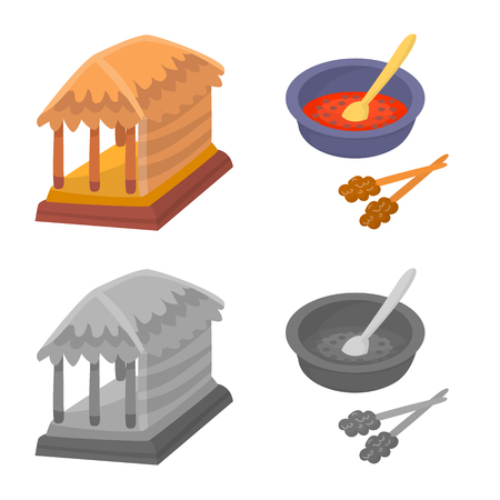 Isolated object of  and travel symbol. Collection of  and traditional stock vector illustration. Illustration