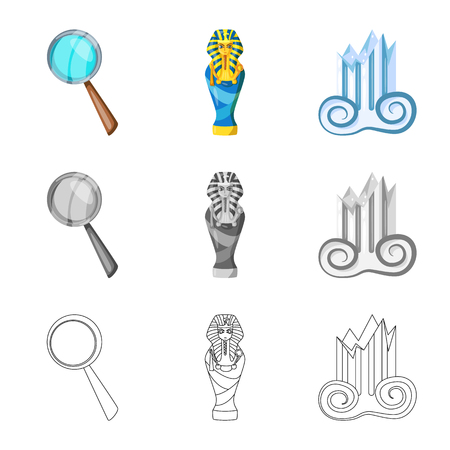 Vector design of story and items symbol. Set of story and attributes  stock symbol for web. Illustration