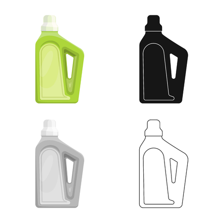 Vector illustration of household and chemicals logo. Collection of household and bottle  vector icon for stock. Illustration
