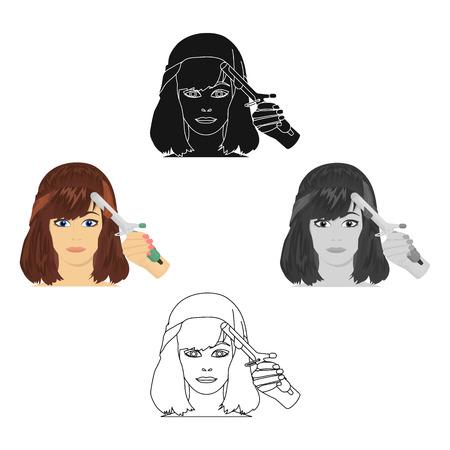 Hair single icon in cartoon,black style.Hair, vector symbol stock illustration web.