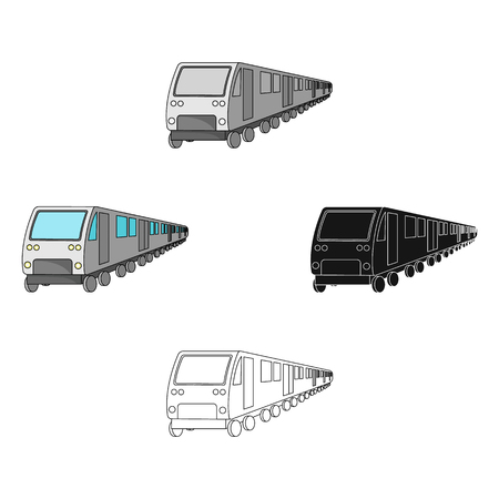Train, single icon in cartoon,black style.Train, vector symbol stock illustration web. Vectores