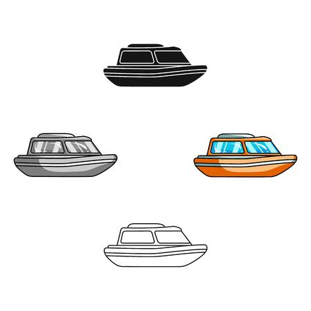 Bateau de sauvetage orange. Bateau pour sauver les personnes qui se noient. Icône unique de transport maritime et maritime dans le dessin animé, illustration stock de symbole de vecteur de le style dessin animé. Vecteurs