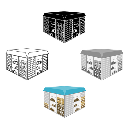 Warehouse space. Logistics and delivery single icon in cartoon,black style isometric vector symbol stock illustration web.