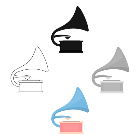 Gramophone icon of vector illustration for web and mobile design Stock Illustratie