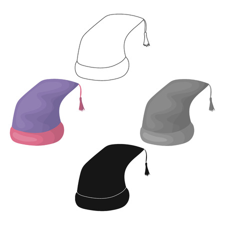 Nightcap icon in cartoon,black style isolated on white background. Sleep and rest symbol stock vector illustration. Vector Illustration