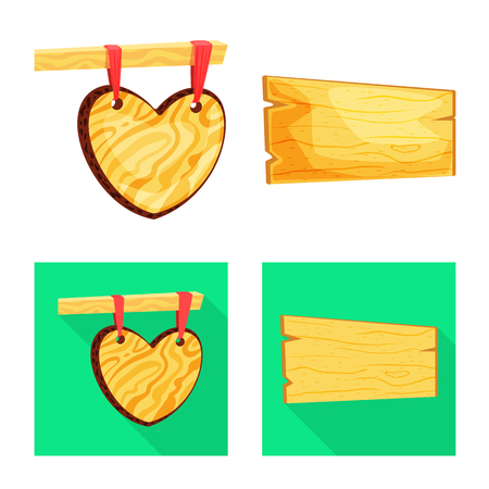 Isolated object of raw  and forest  icon. Set of raw  and hardwood stock symbol for web. Illustration