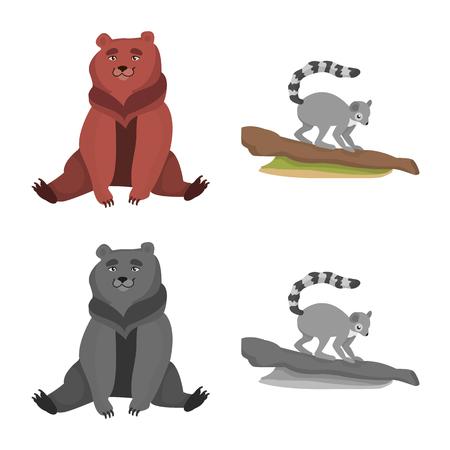 Ilustración de vector de naturaleza y diversión icono. Colección de ilustraciones vectoriales de stock de naturaleza y entretenimiento.