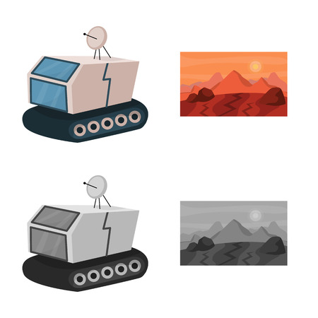 Isolated object of astronomy and technology icon. Set of astronomy and sky stock symbol for web.