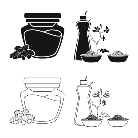 Vector design of healthy  and vegetable. Collection of healthy  and agriculture stock vector illustration. 向量圖像