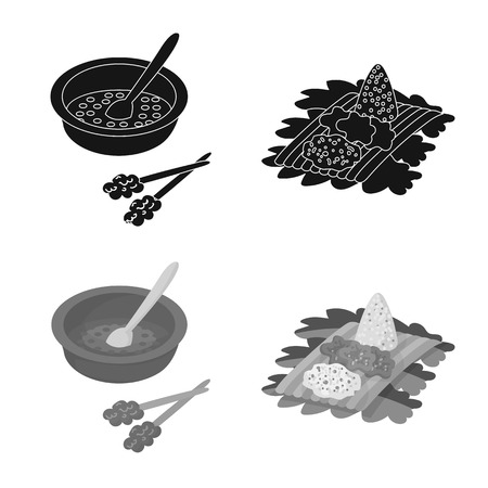 Vector illustration of  and travel icon. Set of  and traditional vector icon for stock. Ilustração
