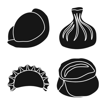 Isolated object of cuisine  and appetizer. Set of cuisine  and food  vector icon for stock. Ilustrace