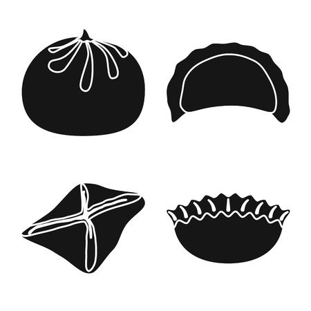 Vector illustration of cuisine  and appetizer symbol. Collection of cuisine  and food  stock vector illustration. Ilustração