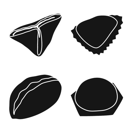 Isolated object of cuisine and appetizer icon. Set of cuisine and food vector icon for stock.